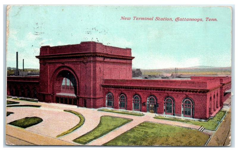 1910 New Terminal Station, Chattanooga, TN Postcard