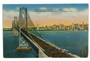 California CA San Francisco Oakland Bay Bridge Postcard Old Vintage Card View PC