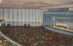 Indiana Lafayette Interior Hall Of Music Purdue University Curteich