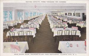 Interior , HACKNEY's Sea Food Restaurant , ATLANTIC CITY , New Jersey , 1910s