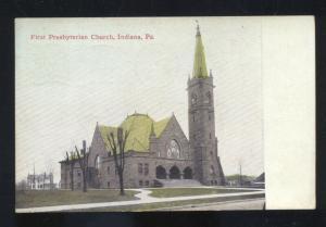 INDIANA PENNSYLVANIA FIRST PRESBYTERIAN CHURCH VINTAGE POSTCARD PA ALLENTOWN