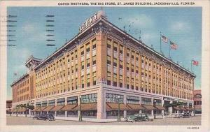 Florida Jacksonville Cohen Brothers Department Store 1936 Curteich