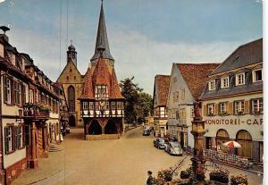 Michelstadt des Herz des Odenwaldes Marktplatz Cafe Auto Vintage Cars