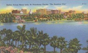 Florida St Petersburg Skyline Across Mirror Lake The Sunshine City