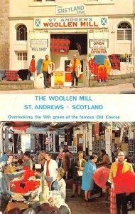 The Woollen Mill Saint Andrews Scotland, UK Writing on back