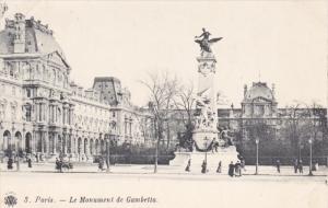 PARIS , France , 1890s : Le Monument de Gambetta