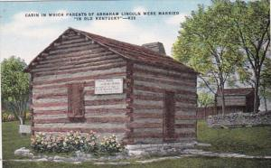 Kentucky Hardin County Cabin In Which Parents Of Abraham Lincoln Were Married