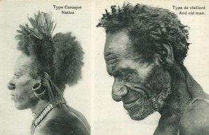 PC CPA PAPUA NEW GUINEA, TYPE CANAQUE, TYPE DE VIEILLARD, Postcard (b19794)