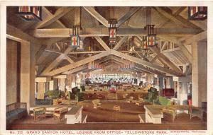 D67/ Yellowstone National Park Postcard c'10 Haynes Grand Canyon Hotel Lounge 6