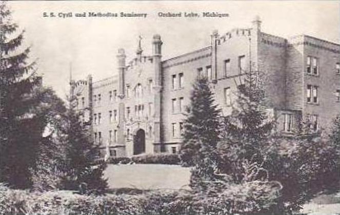 Michigan Orchard Lake S S Cryril and Methodius Seminary Albertype