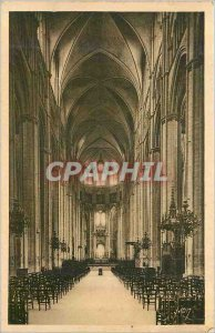 Old Postcard Bourges (Cher) Cathedrale Great Nave