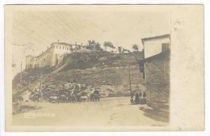 Uskub (Skopje) Zitadelle, Macedonia, PU-1916 Ox carts in street