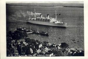 MS Italia Enlarged Continental Size Ship, Ships, Ocean Liner Postcard Postcar...