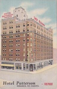 North Dakota Bismarck Hotel Patterson 1954 Curteich