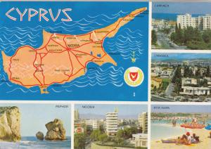 BF26264 cyprus map cartes geographiques   front/back image
