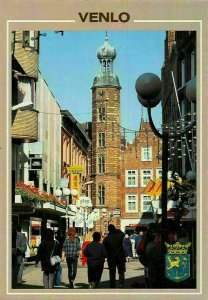 Netherlands Venlo Street Markt Tower Clock Postcard
