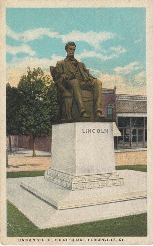 HODGENVILLE , Kentucky, 1910s ; Lincoln Statue