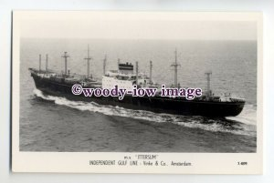 cb0619 - Dutch Ind Gulf Line Cargo Ship - Ittersum , built 1960 - postcard