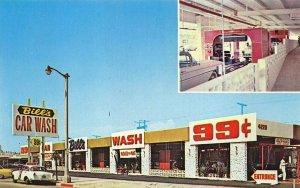 Los Angeles CA Bill's Car Wash 4220 Crenshaw at Stocker Postcard
