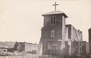 San Miguel Church in 1890 Santa Fe New Mexico