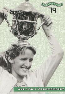 Tracy Austin Wimbledon Doubles Tennis Champion Rare Advertising Postcard