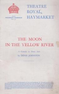 The Moon In The Yellow River Comedy Haymarket London Theatre Programme