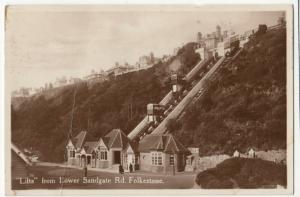 Kent; Lifts From Lower Sandgate Rd, Folkestone PPC 1929, To Mr Comber, Farnham