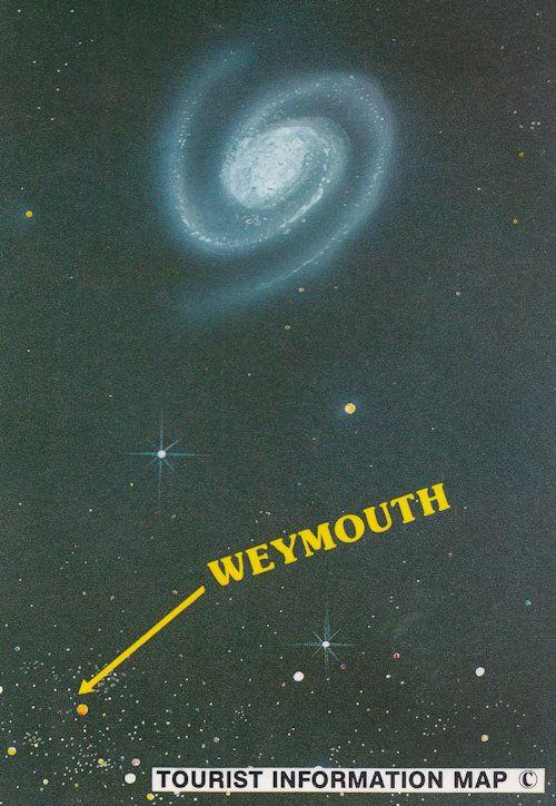 Weymouth Dorset Astronomy Milky Way Space Map Postcard