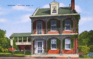 Bontura Natchez MI Mississippi Mr & Mrs Hugh Evans Vintage Postcard