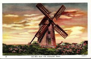 Massachusetts Nantucket The Old Mill Built 1746 Curteich