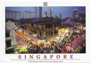 Singapore Beautiful night Market scene. Mint