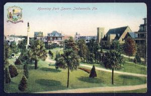 Hemming Park Square Jacksonville Florida unused c1910's