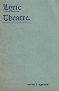 Of Mice & Men Post Victorian Drama 1902 Forbes Robertson Lyric Theatre Programme