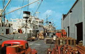 New Orleans Louisiana~Dock Scene~Classic Truck Foreground~1950s Pc