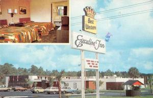DeLand Florida Executive Inn Best Western Vintage Postcard J73901