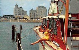 Bathing Beauty Post Card Pretty Girl Corpus Christi, Texas, USA 1957