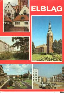 Poland, Elblag, used Postcard