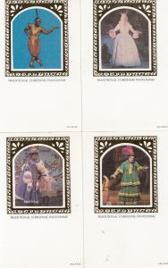 Traditional Christmas Pantomime 4x Jester African Dancer Benham Postcard s