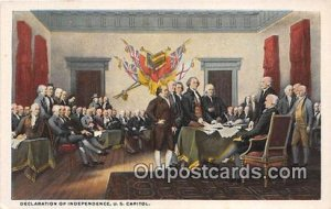 Declaration of Independence US Capitol Unused