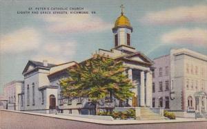 Virginia Richmond Saint Peters Catholic Church Eighth And Grace Streets