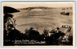 RPPC  SYDNEY HARBOUR, Australia ~ R.M.S. Monterey BRADLEYS HEAD  Postcard
