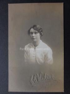 Studio Portrait of Young Lady Old RP PC by E.C.Watling 33 Jamaica Rd, Bermondsey