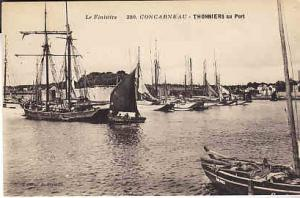 France - Concarneau - Thonniers au Port.  Boats in Harbor
