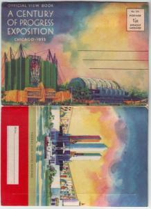PC62 JLs postcard 1933 century progress 20 page foldout