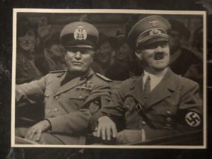 1941Vienna Germany Real picture Postcard RPPC cover Adolf Hitler and Mussolini
