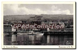 Old Postcard Evian Les Bains Panorama Seen From Lake