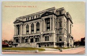Utica New York~Oneida County Courthouse~Houses Behind~c1910 Postcard