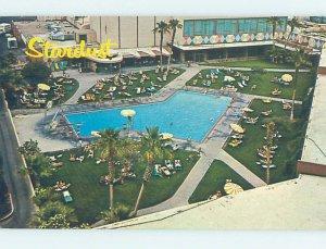 Pre-1980 SWIMMING POOL AT STARDUST CASINO HOTEL Las Vegas Nevada NV AE0986