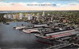 The Busy Port of Miami, FL, USA Florida