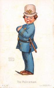 Katharine Gassaway~The Policeman~Winks~Boy Dressed Up~Billy Club~1909 Postcard